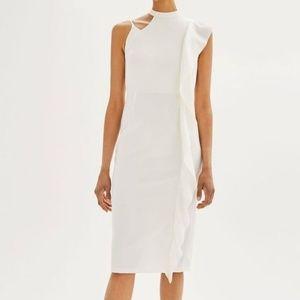 Topshop Asymmetrical Ruffle Midi Dress-NEW!